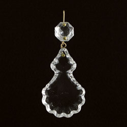 French Pendalogue scalloped crystal prism