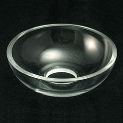 Bobeche, Czech hand polished, clear, plain, 0 ph, chandelier parts