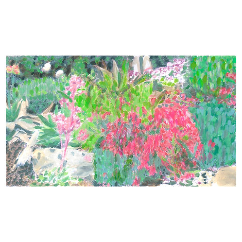 Garden Array. Landscape garden painting fine art for home decor and wall art.