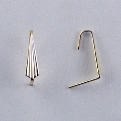 End Hooks Connector Prism Pin, 12mm, Gold or Chrome