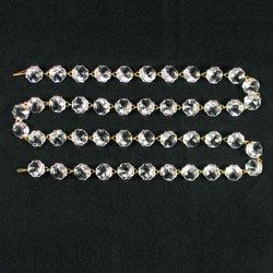 Clear Uniform Bead Chain, 16mm