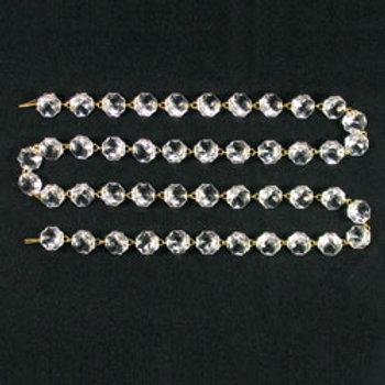 Clear Uniform Bead Chain, 16mm