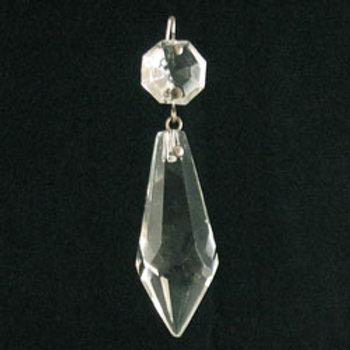 2 inch clear plug-drop crystal prism