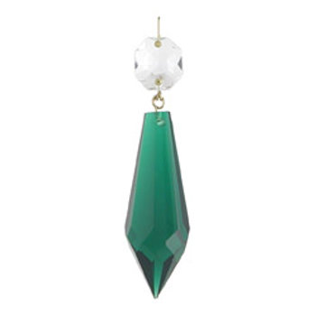 Two and a half inch plug drop crystal prism green