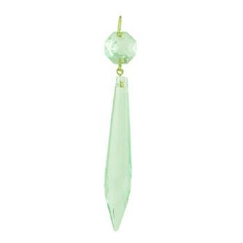 3 inch U Drop crystal prism light green