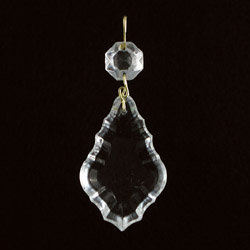 French Pendalogue crystal prism clear