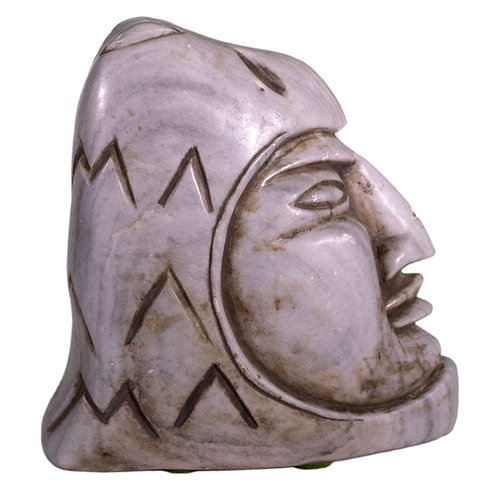 Aztec Head of Heaven Hand Carved Stone