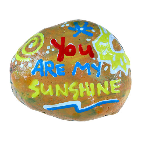 """You Are My Sunshine"" Inspirational hand-painted stone for home decor"