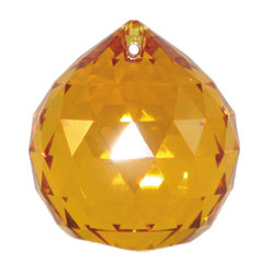 Swarovski full-faceted cut crystal ball, topaz
