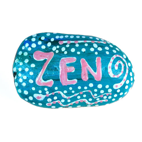 """Zen"" Hand-painted mandala stone for home decor"