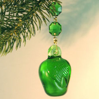 Pressed glass apple decoration for home decor and ornaments