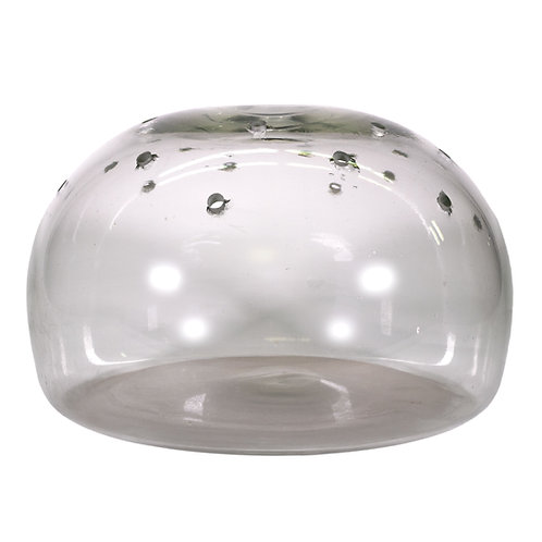 Hand Blown Half-Round Flower Vase with Holes for Flowers