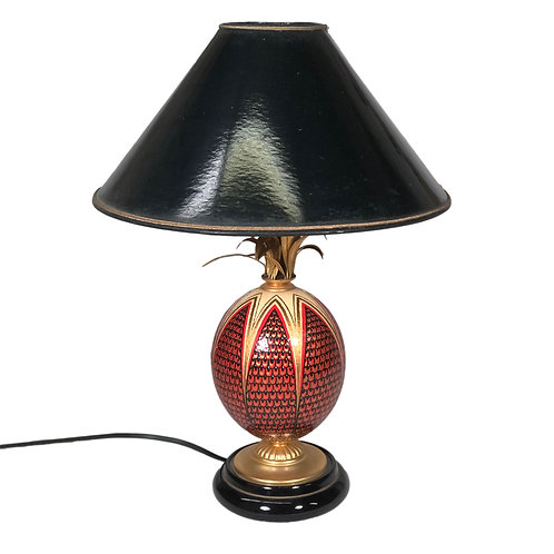 French Faux Ostrich Egg Table Lamp for Lighting and Home Decor