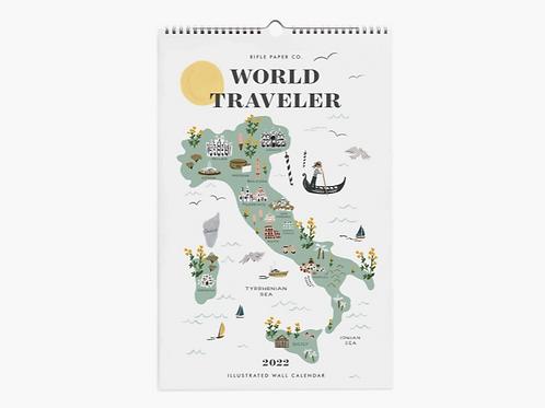 Rifle Paper Co.   2022 World Traveler Wall Calendar