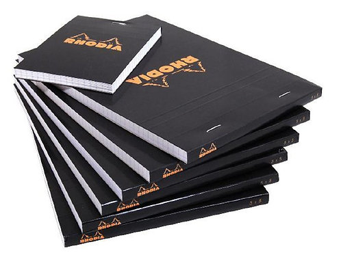 Black Rhodia Notepads