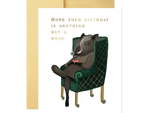 Birthday Boar