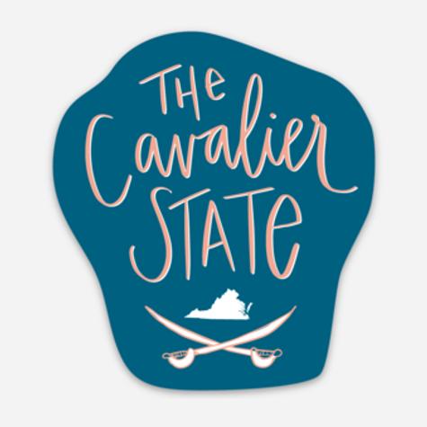 Blue Cavalier State Sticker