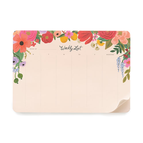Rifle Paper Co. | Garden Party Weekly Desk Pad