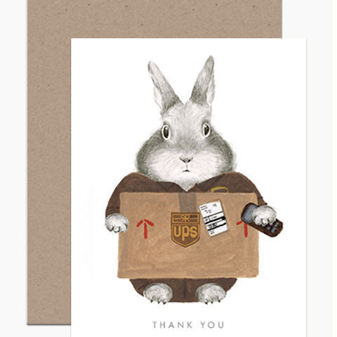 Essential Worker UPS Bunny Thank You