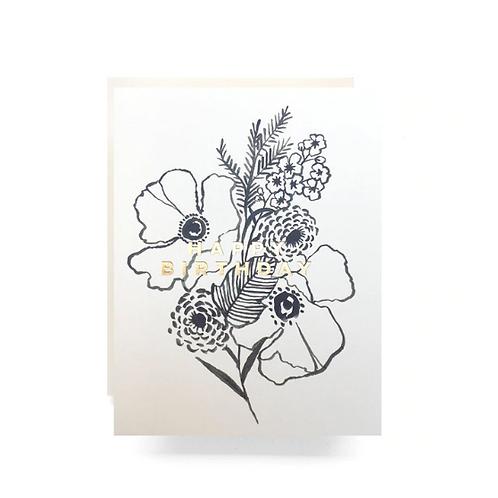 Poppy Bouquet Birthday