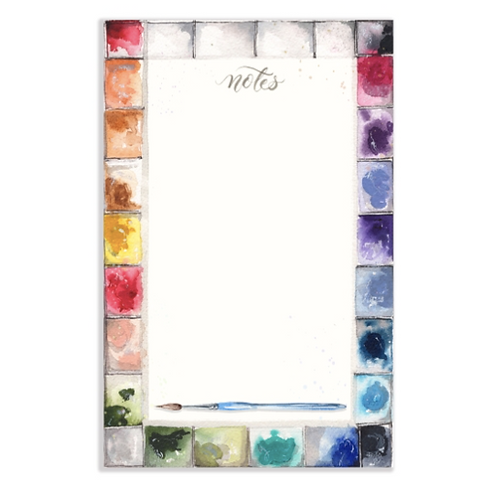 Watercolor Palette Notepad