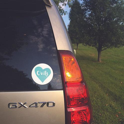 Cville Heart Bumper Sticker