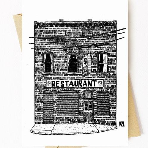 C&O Restaurant Greeting Card