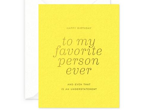 Favorite Person Birthday