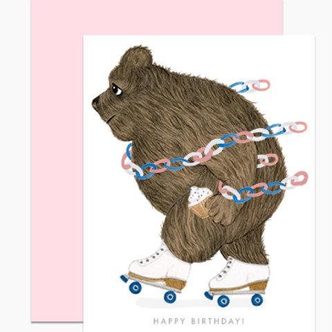 Rollerskating Bear