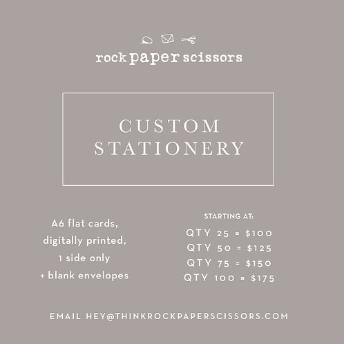 RPS | Custom Stationery