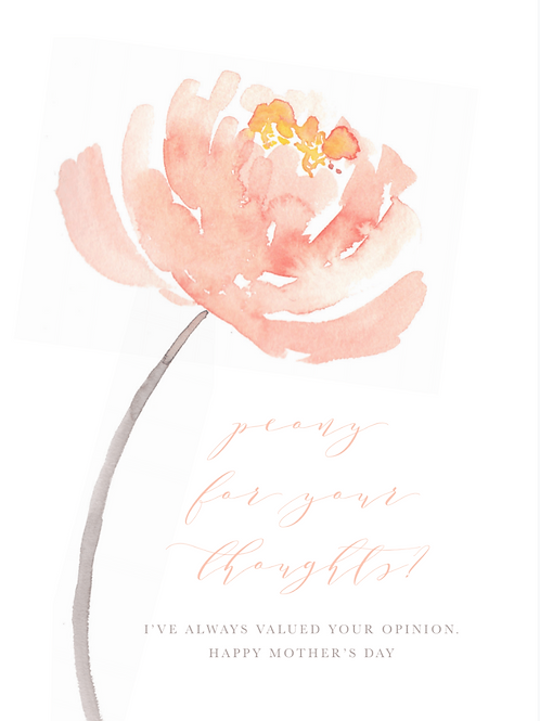 RPS |  Peony for Your Thoughts