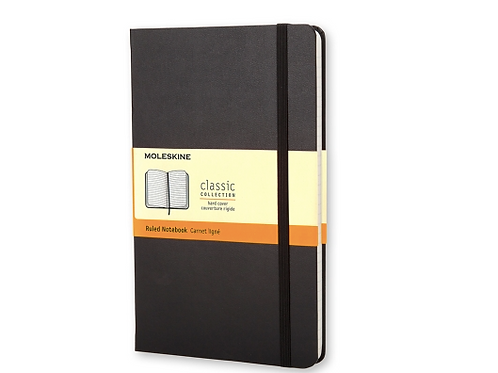Moleskine Black Hardcover Notebooks