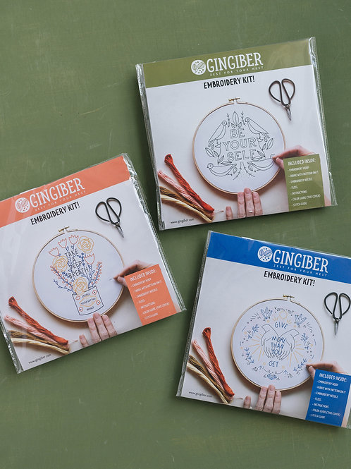 Gingiber | Assorted Embroidery Kits