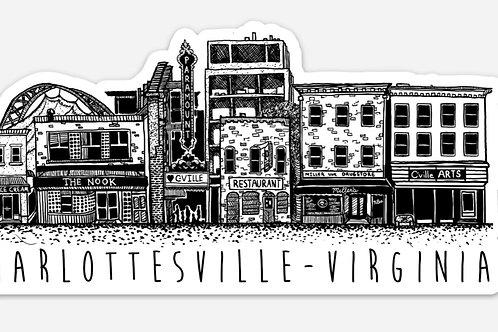 Downtown Charlottesville Sticker