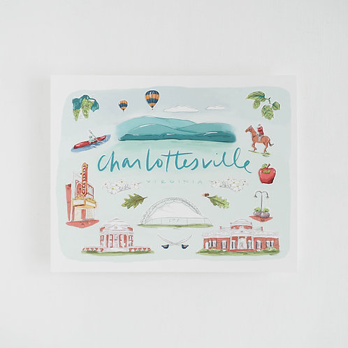 RPS | Charlottesville Watercolor Icons, Art Print