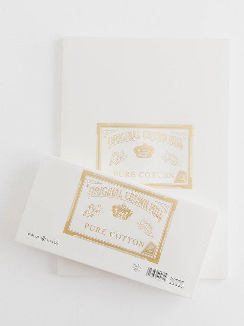 Original Crown Mill | Pure Cotton A4 Pad + Envelope Set