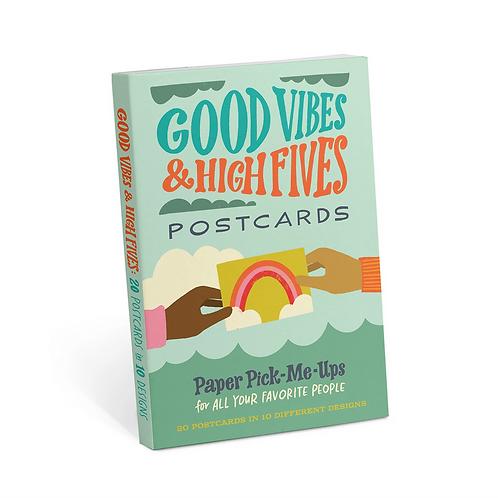 Good Vibes & High Fives Postcard Set