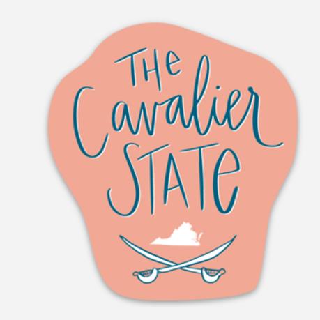 Coral Cavalier State Sticker