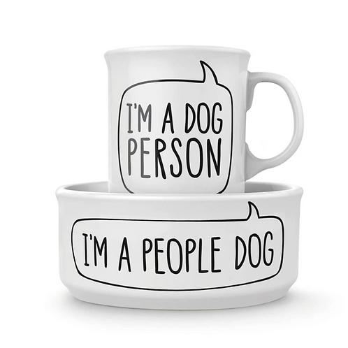 Dog Person Mug + Bowl Set