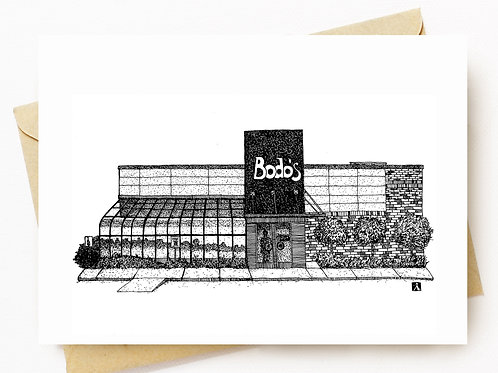 Bodo's Bagels Greeting Card