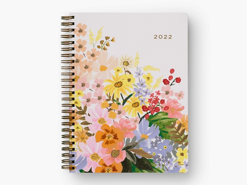 Rifle Paper Co.   2022 Marguerite 12-Month Softcover Spiral Planner