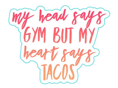 Heart Tacos Sticker