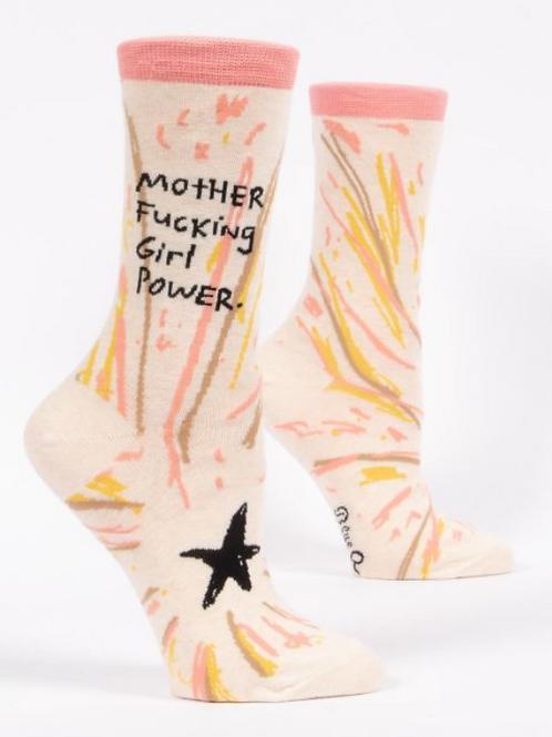 Mother F*cking Girl Power, Women's Crew Socks