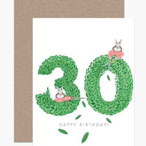 Happy Birthday Topiary 30