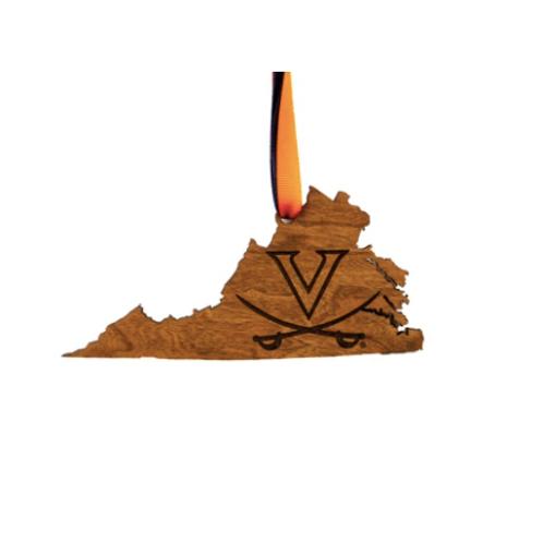 UVA Wooden Ornament