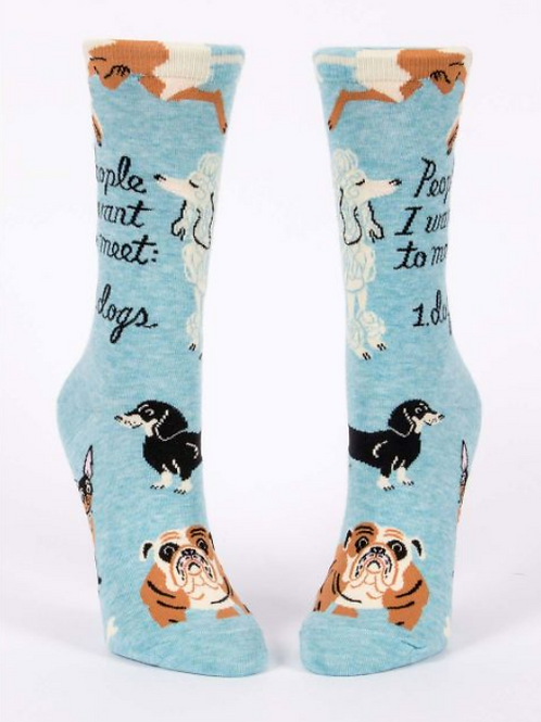 People I Want to Meet: Dogs (Women's Crew Socks)