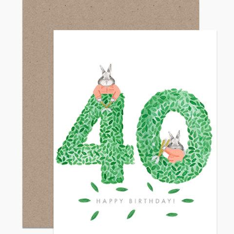 Happy Birthday Topiary 40