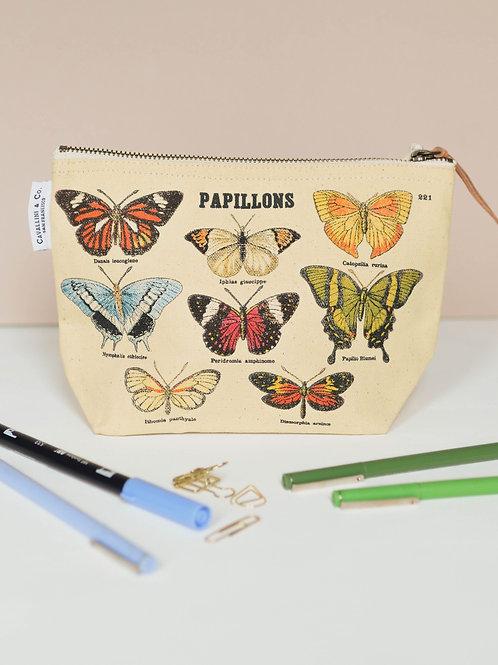 Vintage Papillions Pouch