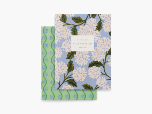 Rifle Paper Co. | Pair of Hydrangea Pocket Notebooks
