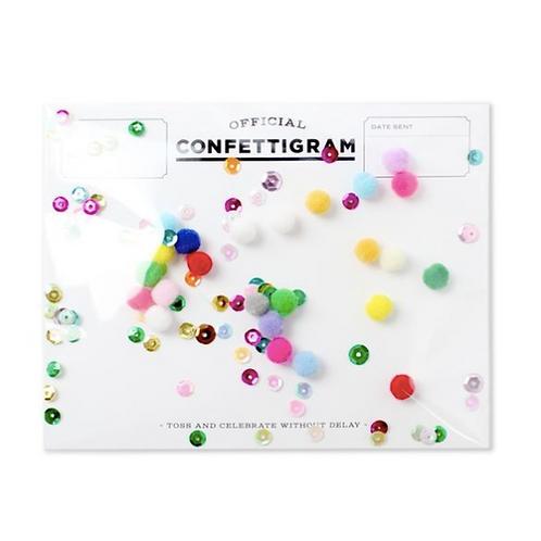 Celebration Confettigram Cards